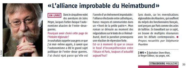 Article Strasbourg magazine janvier-février 2019