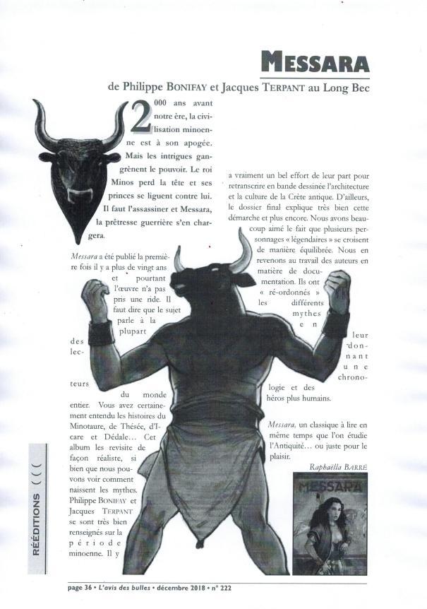 Messara magazine L'Avis des Bulles décembre 2018